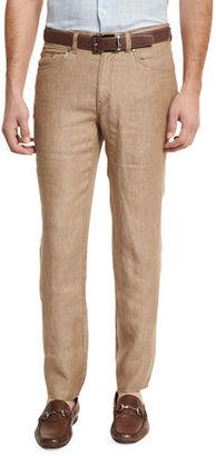 Peter Millar Linen Five-Pocket Pants $145 thestylecure.com