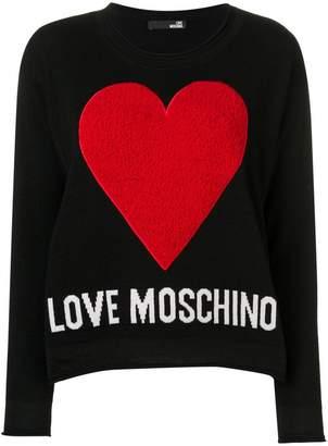 Love Moschino logo heart jumper