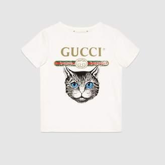 Gucci (グッチ) - 〔チルドレンズ〕GUCCI ロゴ&ミスティックキャット Tシャツ