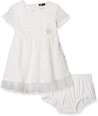 GUESS Girls' Ss Dress, (True White A000 TWHT)