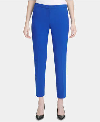 Calvin Klein Petite Straight-Leg Ankle Pants