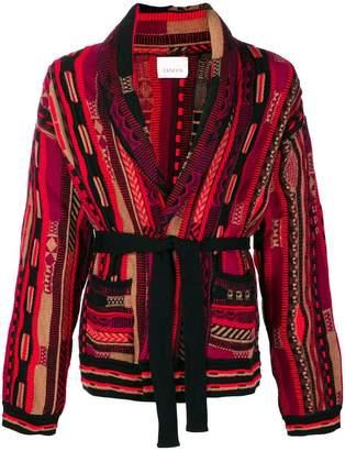 Laneus patterned loose cardigan