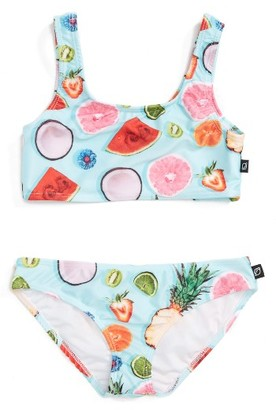 Girl's Terez Tropical Fruit Print Two-Piece Swimsuit $62 thestylecure.com