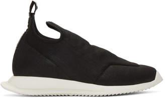 Rick Owens Black New Runner Slip-On Sneakers
