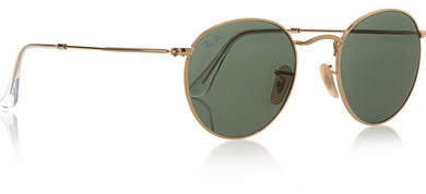 Ray-Ban - Round-frame Gold-tone Sunglasses 5