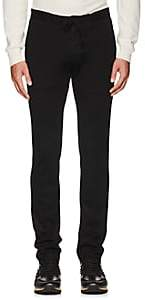 D'Avenza Men's Wool Jersey Drawstring Trousers - Black