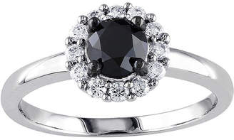 Black Diamond MODERN BRIDE Midnight 1 CT. T.W. White & Color-Enhanced 10K White Gold Engagement Ring