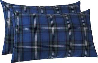 Pinzon 160 Gram Plaid Flannel Pillowcases - Standard