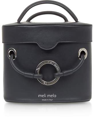 Meli-Melo Nancy Black Leather Cylindrical Bag