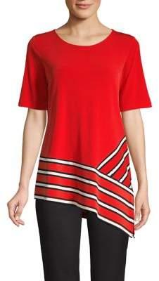 Calvin Klein Striped Asymmetrical Top