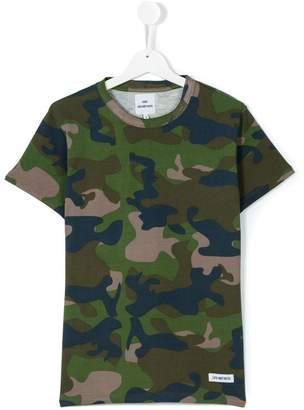 Les (Art)ists Kids teen Kanye camouflage t-shirt