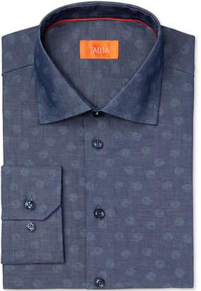 Tallia Men Fitted Circle Dot Print Dress Shirt