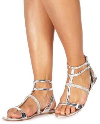 Faith Silver 'Jimmy' T-Bar Sandals