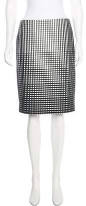 Marc Jacobs Windowpane Pencil Skirt