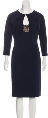 Alberto Makali Long Sleeve Midi Dress