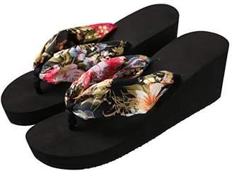 f1c423e27b2 at Amazon.com · Aerusi Saki Floral Wedge Flip Flop Sandals