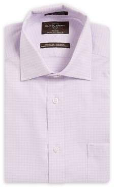 Black & Brown Black Brown Checkered Classic-Fit Cotton Dress Shirt