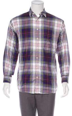 Burberry Check Button-Up Shirt