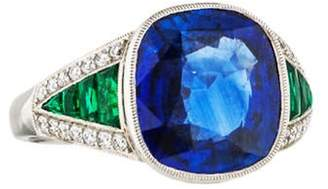 d Collection Sophia Platinum Sapphire, Emerald & Diamond Cocktail Ring Sophia Platinum Sapphire, Emerald & Diamond Cocktail Ring