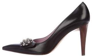 Sergio Rossi Leather Pointed-Toe Pumps