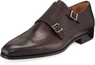Magnanni Men's Guadiana Monk-Strap Slip-Ons