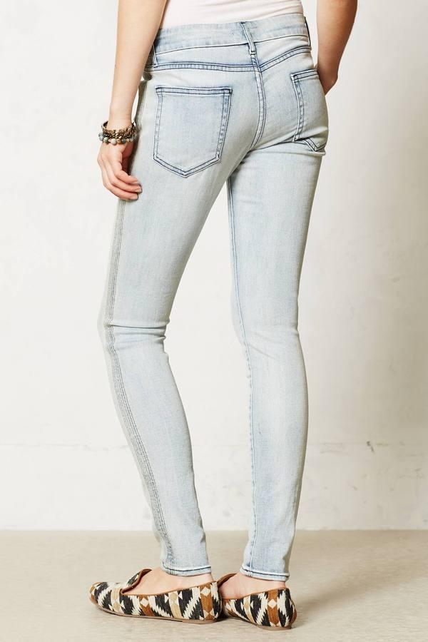 Anthropologie Koral Skinny Side Stitched Jeans