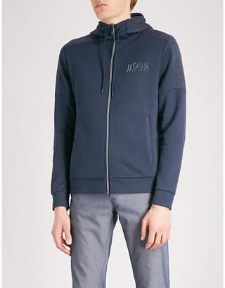 BOSS GREEN Contrast-panel jersey hoody