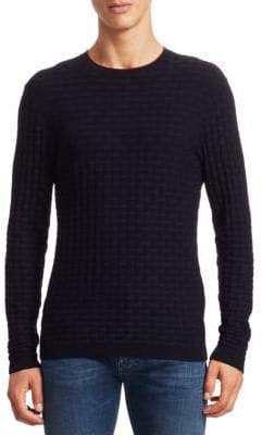 Emporio Armani Links Woven Pattern Sweater
