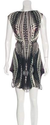 Jean-Pierre Braganza Silk Printed Dress