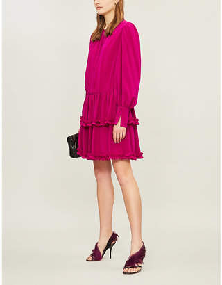 Stella McCartney Ruffled silk mini dress