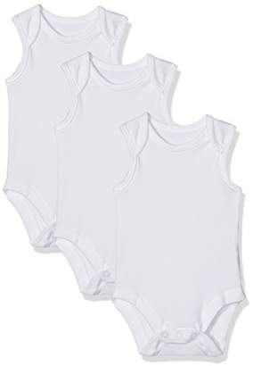 Mothercare My First Sleeveless Bodysuits - 3 Pack,(Manufacturer Size:56)