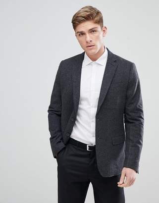 New Look Blazer In Dark Gray
