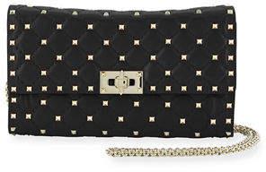 Valentino Quilted Rockstud Spike Chain Shoulder Bag