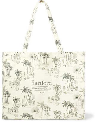 Hartford Printed Cotton-Canvas Tote Bag