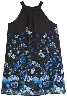Elisa B Print Chiffon Halter Dress (Big Girls)