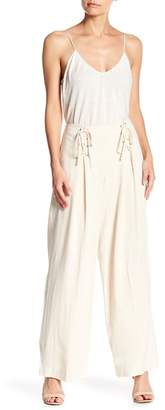 June & Hudson Tassel Wide Leg Pants