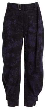 Proenza Schouler PSWL Belted Slouchy Cotton Pants