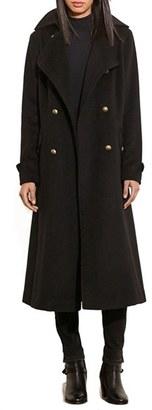 Lauren Ralph Lauren Wool Blend Maxi Coat $360 thestylecure.com