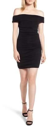 Trouve Shirred Off the Shoulder Dress