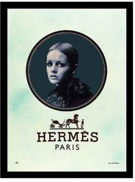 Hermes Luxe West Horse and Carriage Fairchild Paris Vintage Ad Framed Wall Art
