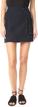 Derek Lam 10 Crosby Miniskirt with Grommet & Lacing $350 thestylecure.com