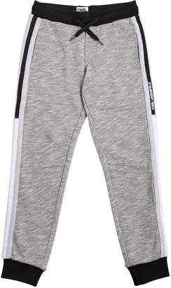 Karl Lagerfeld Cotton Blend Sweatpants W/ Side Bands