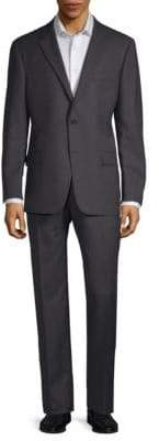 Hickey Freeman Pinstripe Wool Suit