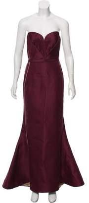 J. Mendel Strapless Maxi Dress