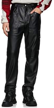 GmbH Men's Faux-Leather Workman Pants - Black