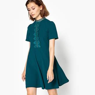 Suncoo Short-Sleeved Flared Mini Dress