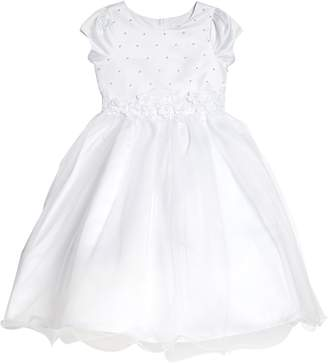 Us Angels Embellished Satin & Organza Dress