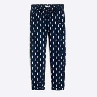 J.Crew Factory Ikat linen-cotton drawstring pant