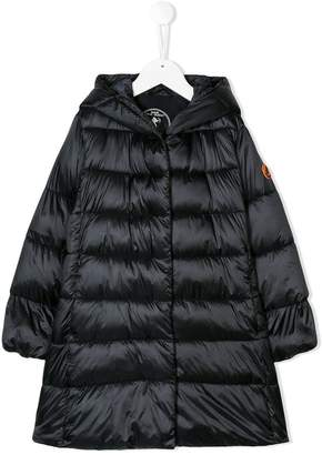 Save The Duck Kids hooded padded long coat