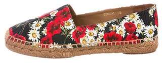 Dolce & Gabbana Floral Round-Toe Espadrilles w/ Tags
